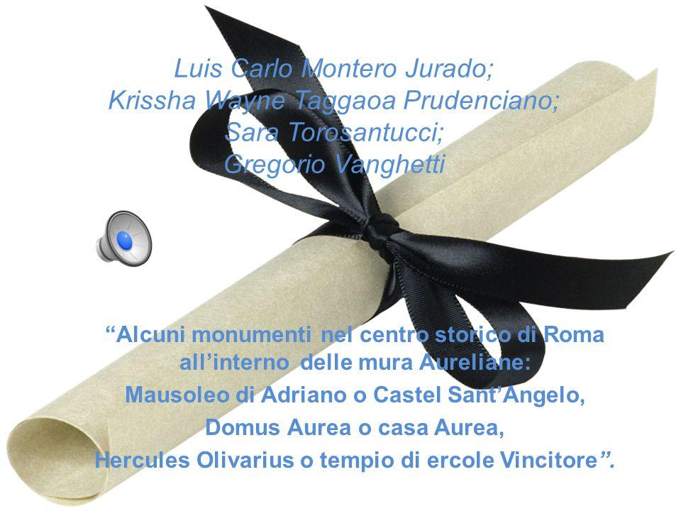 Luis Carlo Montero Jurado; Krissha Wayne Taggaoa Prudenciano; Sara Torosantucci; Gregorio Vanghetti