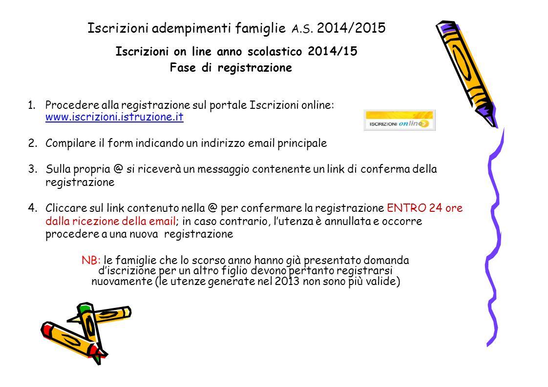 Iscrizioni adempimenti famiglie A.S. 2014/2015