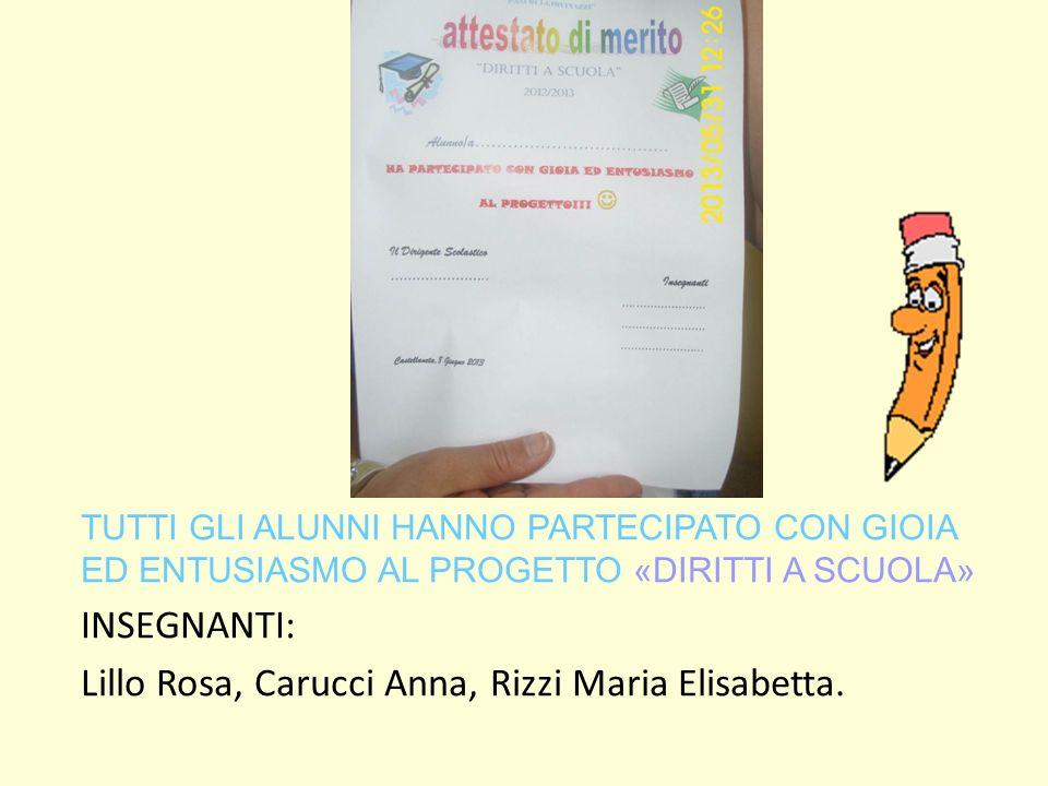 Lillo Rosa, Carucci Anna, Rizzi Maria Elisabetta.