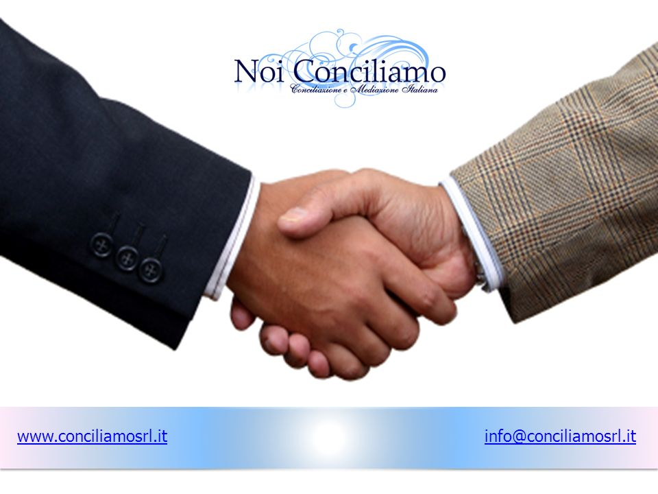 www.conciliamosrl.it info@conciliamosrl.it www.conciliamosrl.it
