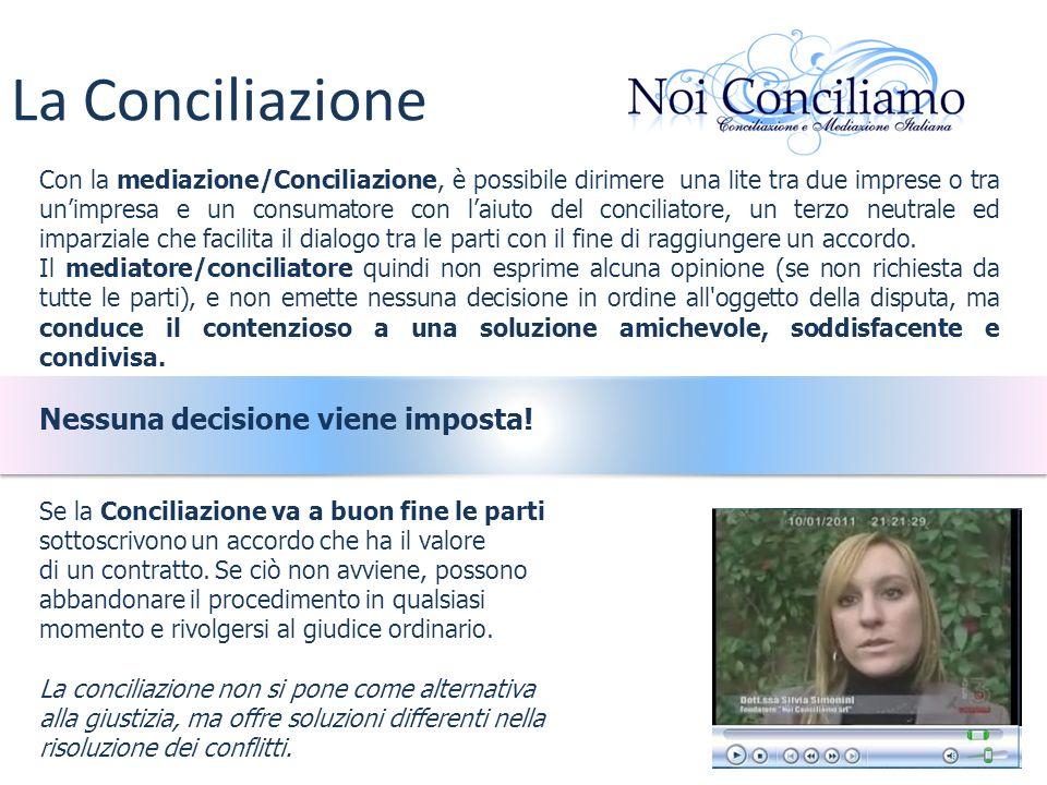 La Conciliazione Nessuna decisione viene imposta!