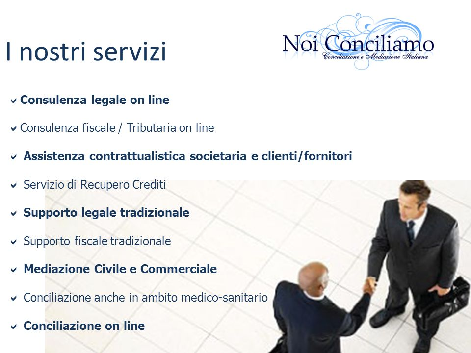 I nostri servizi Consulenza legale on line