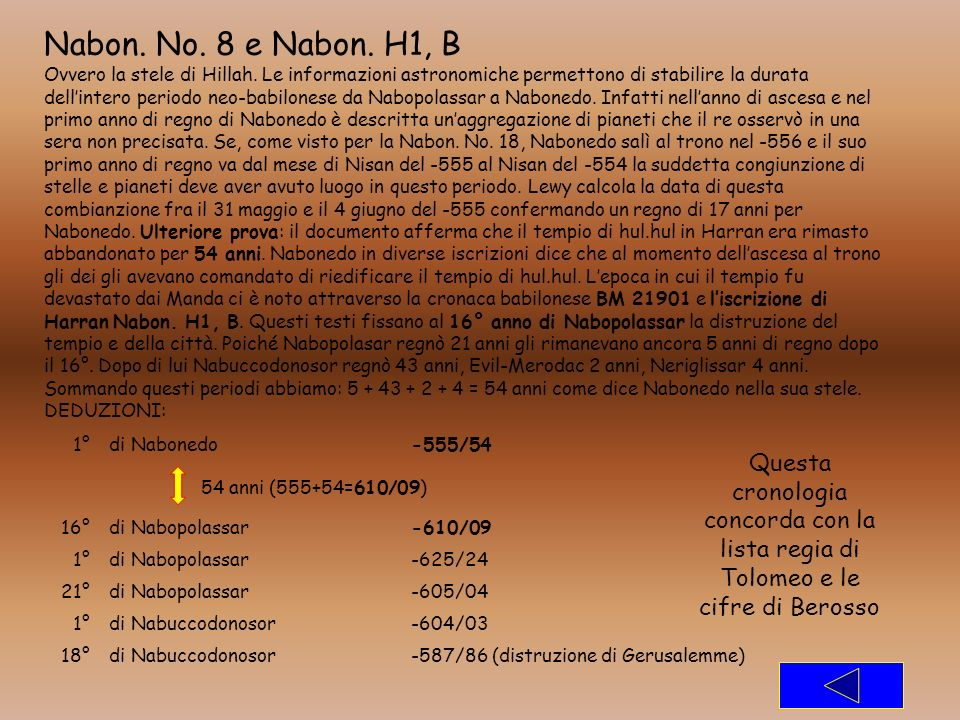 Nabon. No. 8 e Nabon. H1, B
