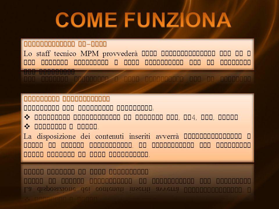 COME FUNZIONA Installazione on-site
