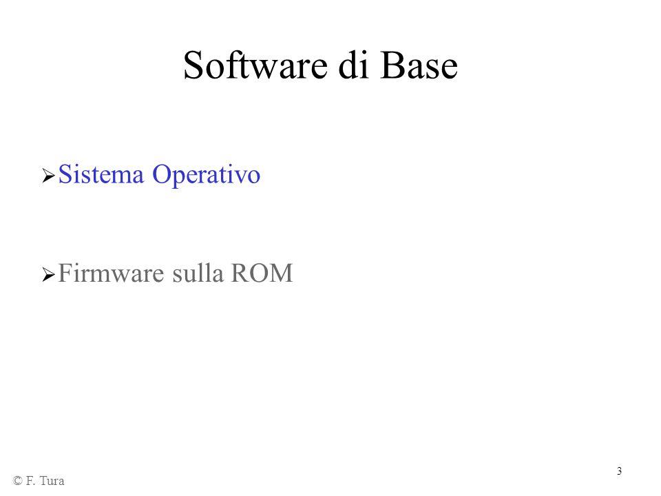 Software di Base Sistema Operativo Firmware sulla ROM © F. Tura