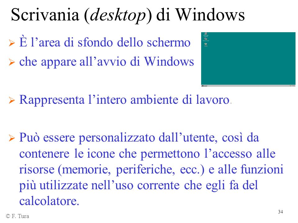 Scrivania (desktop) di Windows