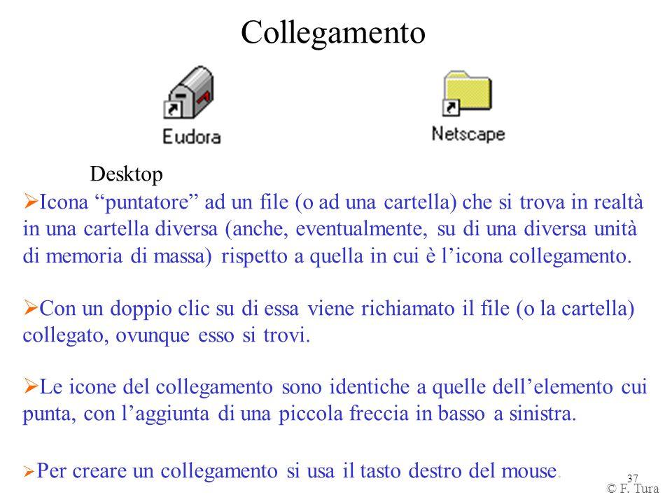 Collegamento Desktop. Icona puntatore ad un file (o ad una cartella) che si trova in realtà.