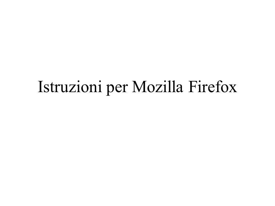 Istruzioni per Mozilla Firefox