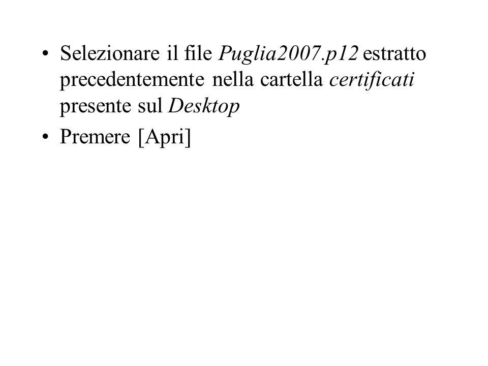 Selezionare il file Puglia2007