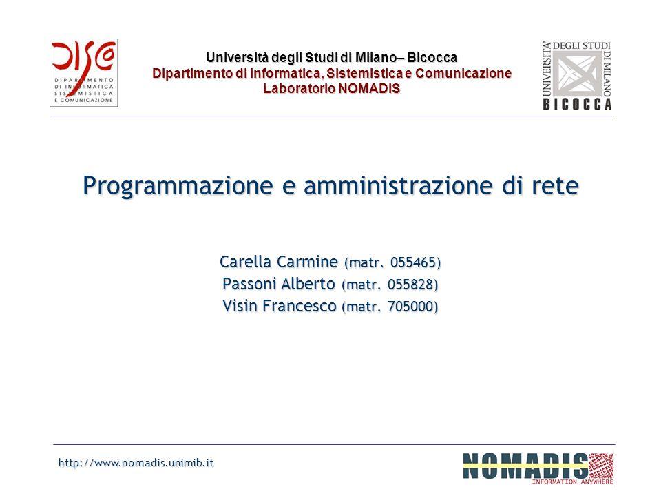 Programmazione e amministrazione di rete