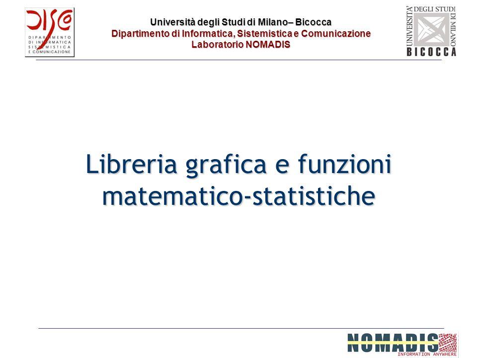 Libreria grafica e funzioni matematico-statistiche