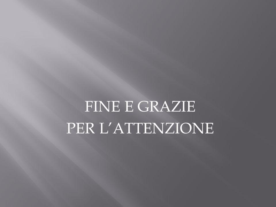 FINE E GRAZIE PER L'ATTENZIONE