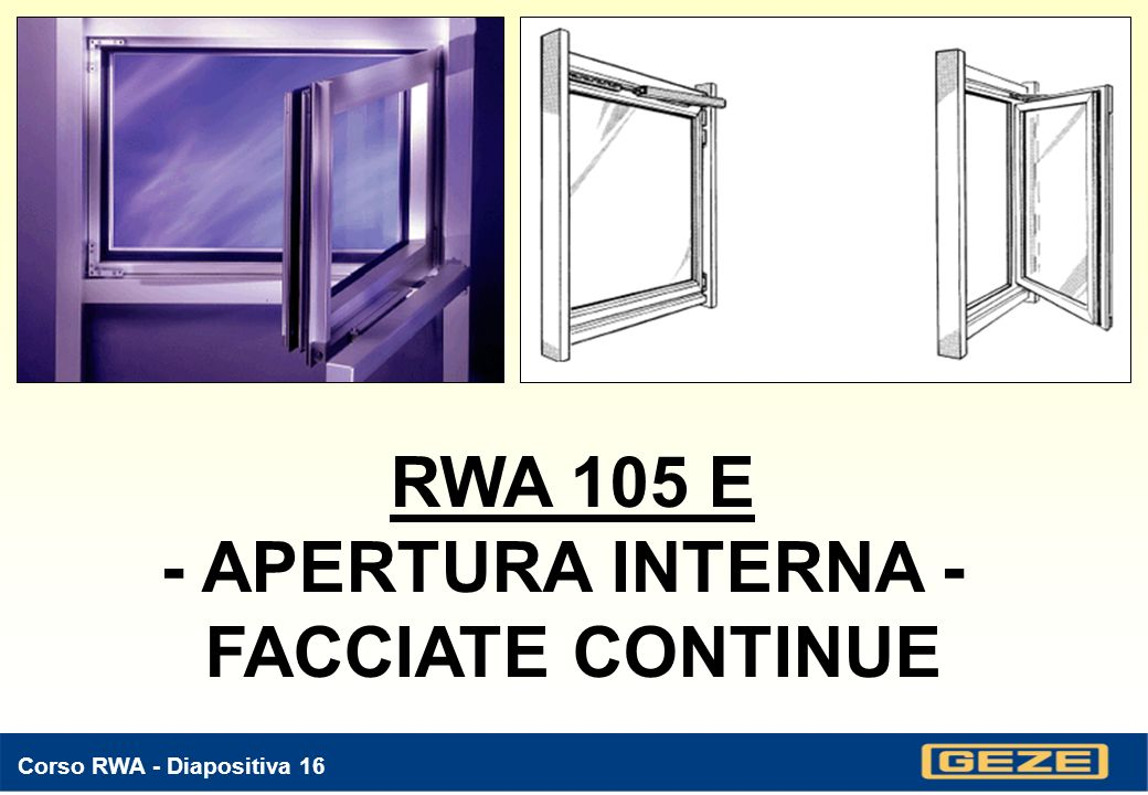 RWA 105 E - APERTURA INTERNA - FACCIATE CONTINUE