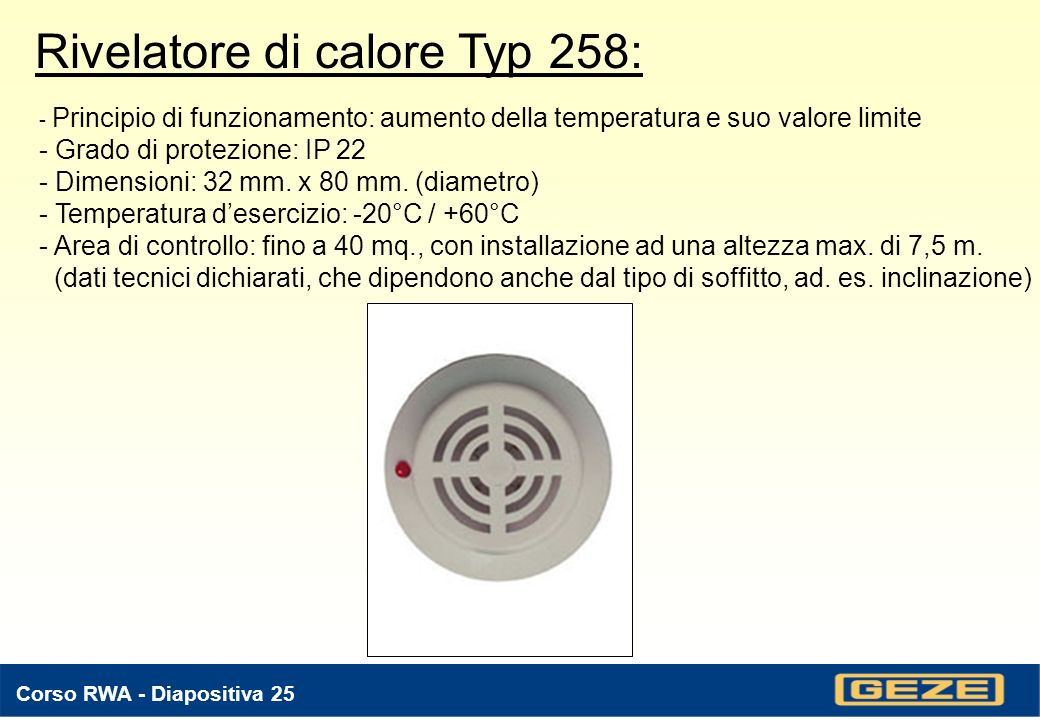 Rivelatore di calore Typ 258:
