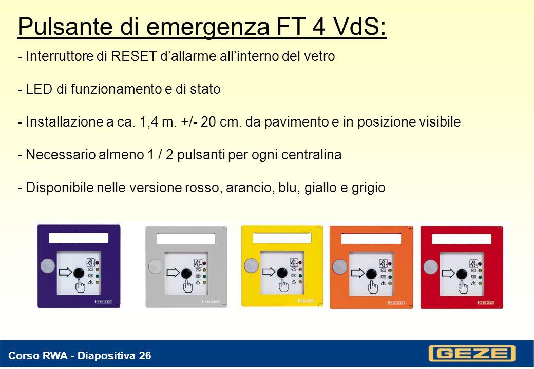 Pulsante di emergenza FT 4 VdS: