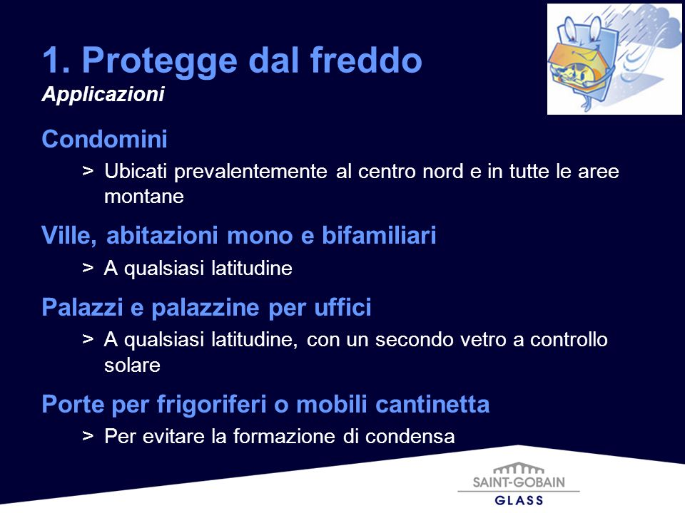 1. Protegge dal freddo Condomini Ville, abitazioni mono e bifamiliari