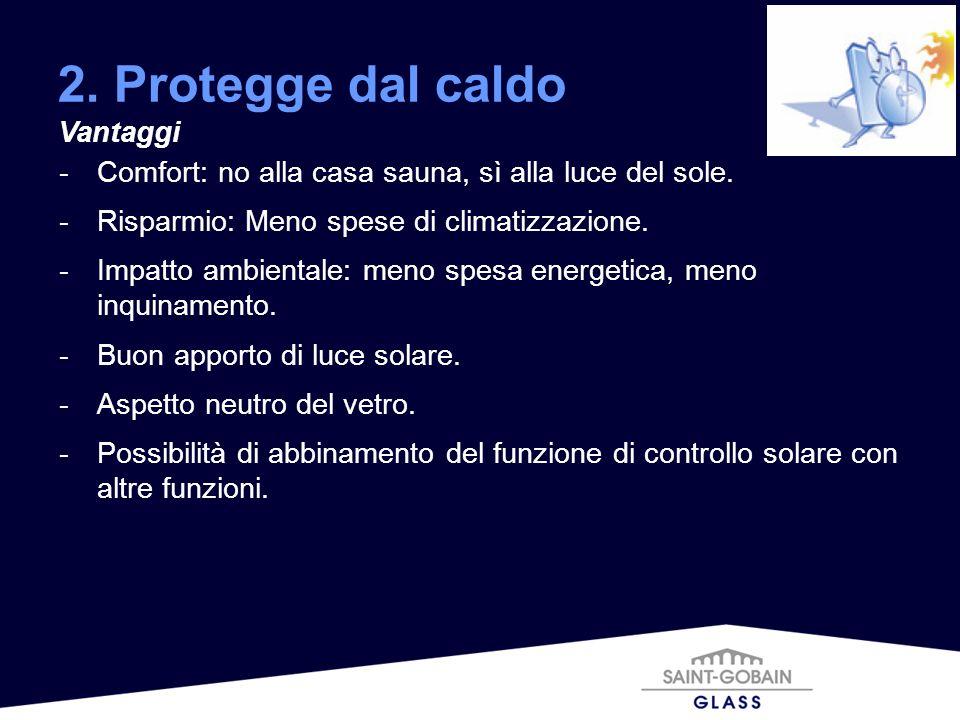2. Protegge dal caldo Vantaggi