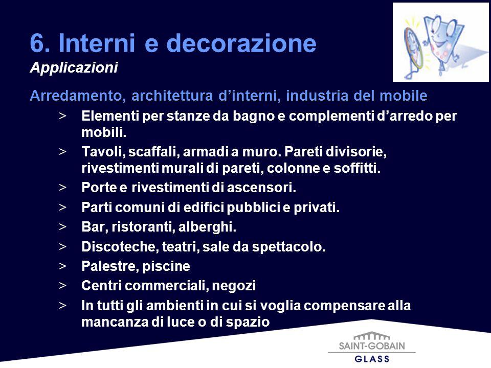 6. Interni e decorazione Applicazioni