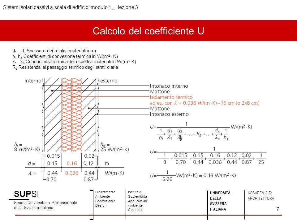 Calcolo del coefficiente U