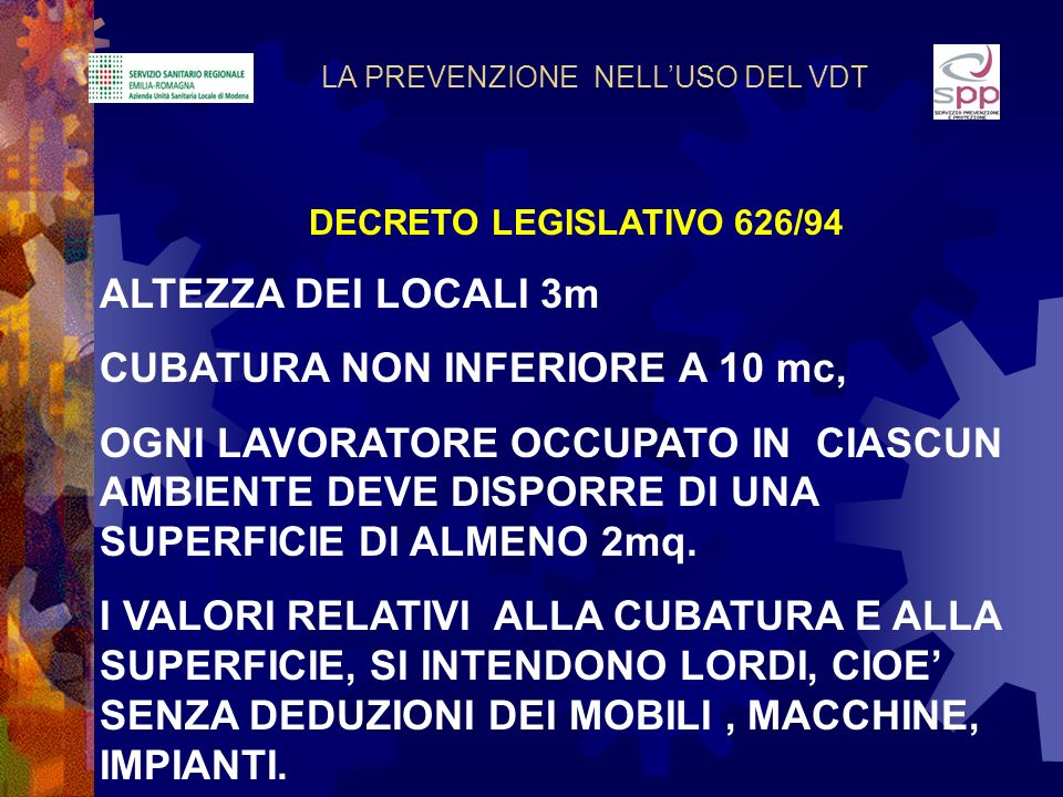 CUBATURA NON INFERIORE A 10 mc,