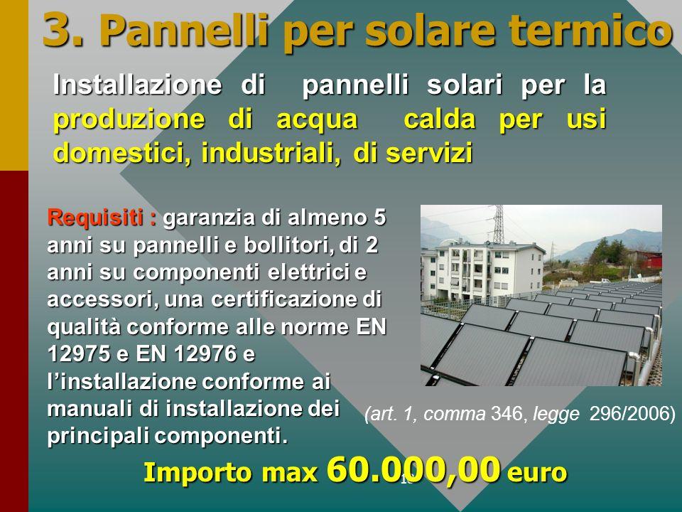 3. Pannelli per solare termico