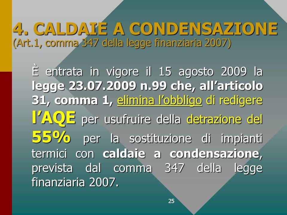 4. CALDAIE A CONDENSAZIONE (Art