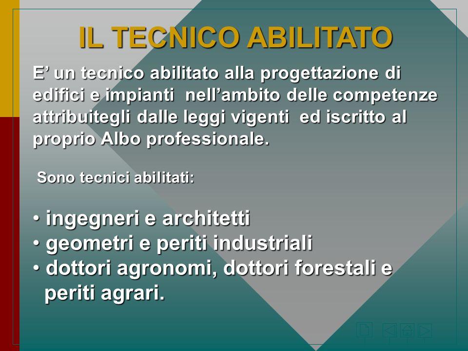IL TECNICO ABILITATO ingegneri e architetti