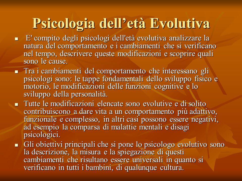 Psicologia dell'età Evolutiva