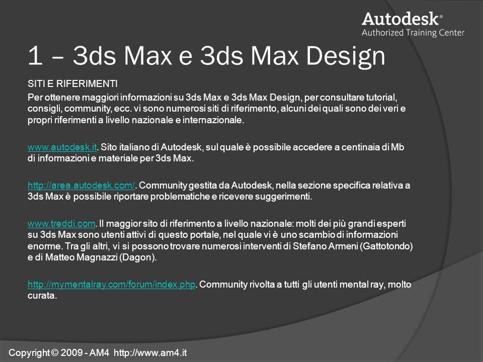 1 – 3ds Max e 3ds Max Design