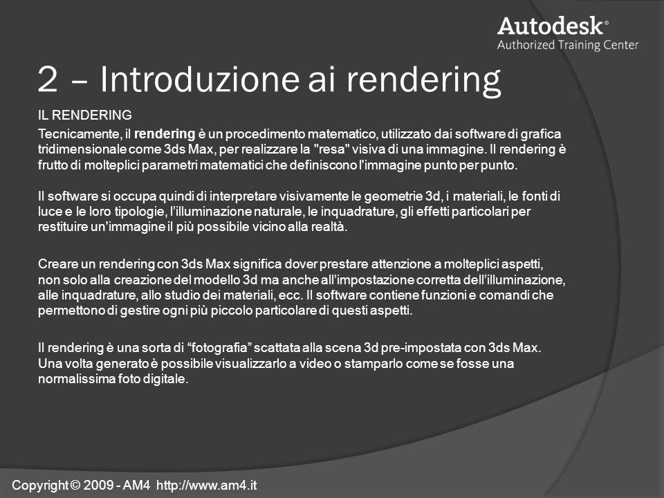 2 – Introduzione ai rendering