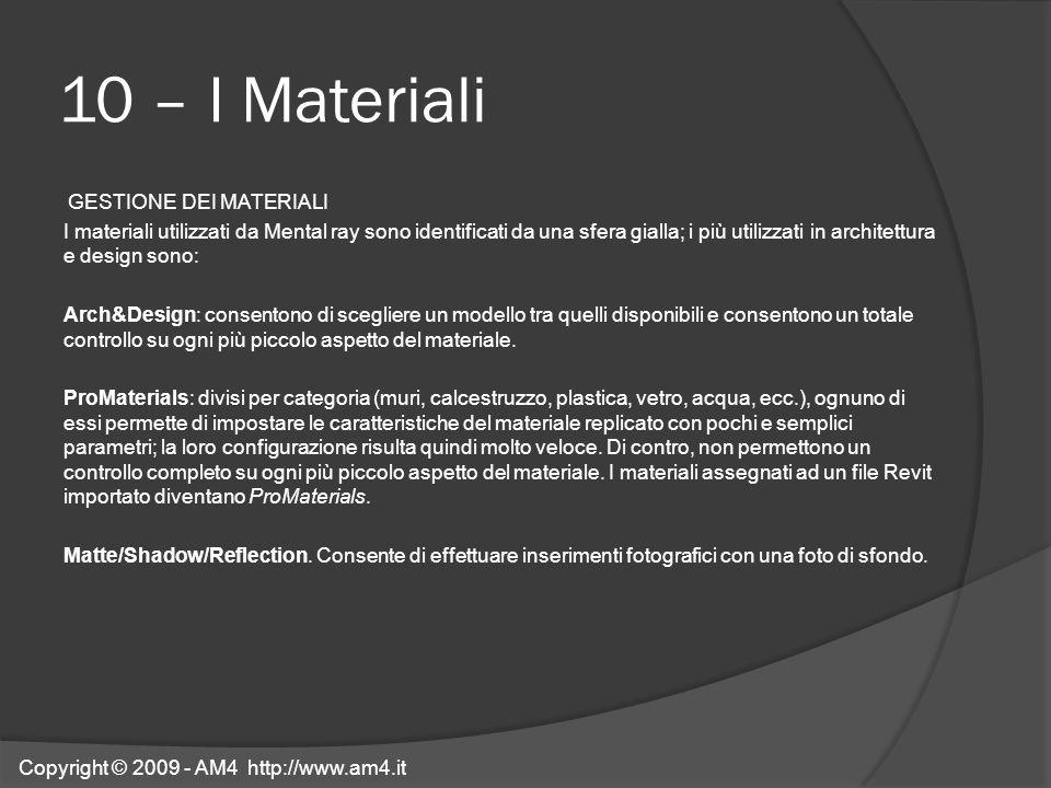 10 – I Materiali