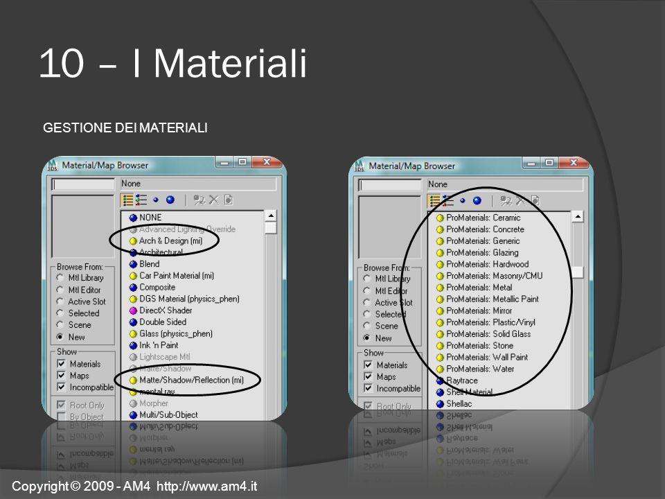 10 – I Materiali GESTIONE DEI MATERIALI