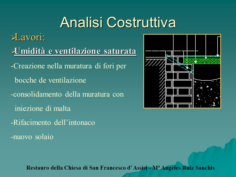 Analisi Costruttiva Lavori: Umidità e ventilazione saturata