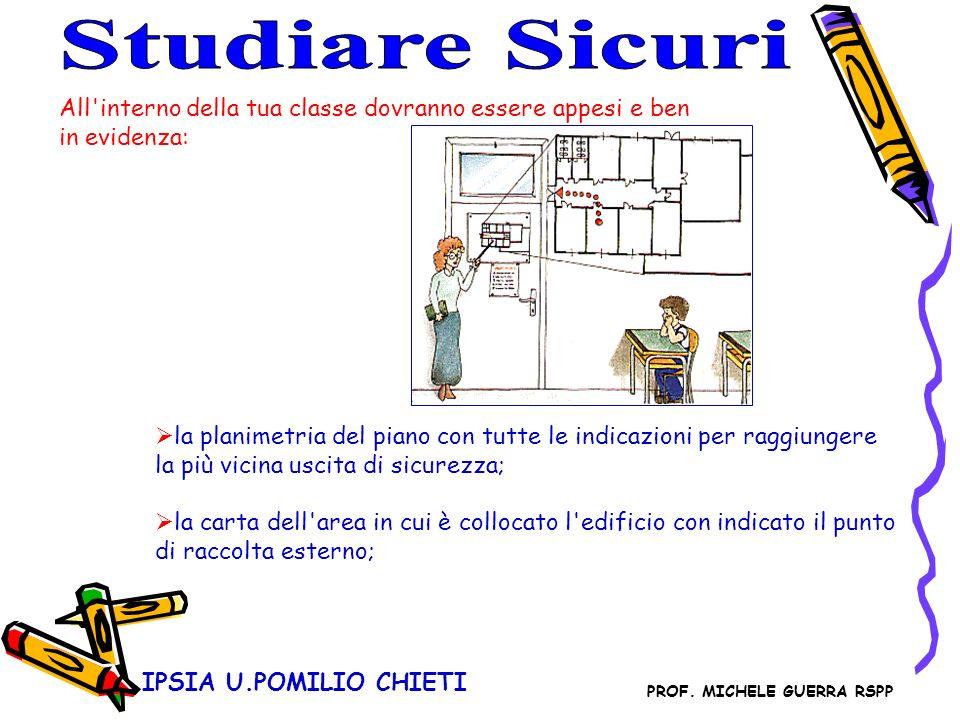 Studiare SicuriAll interno della tua classe dovranno essere appesi e ben in evidenza: