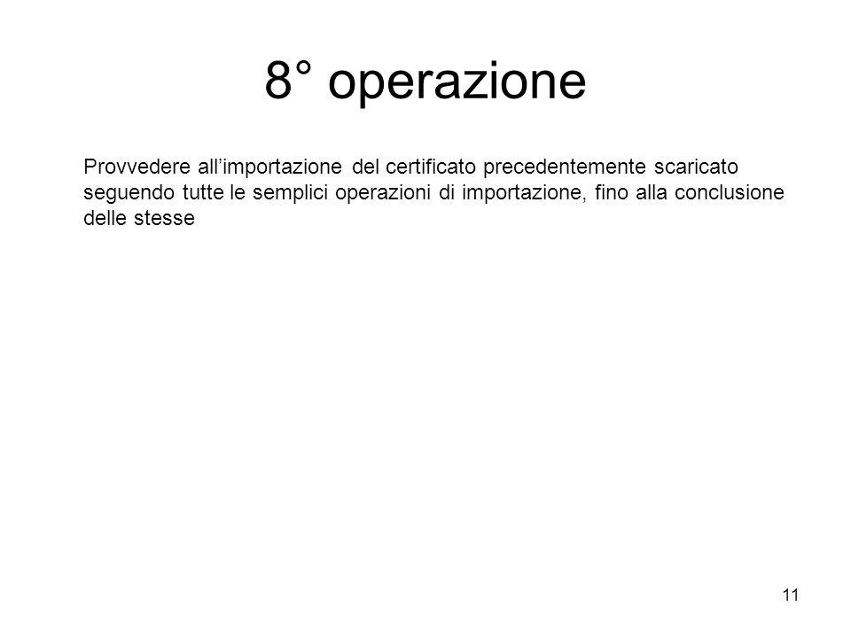 8° operazione
