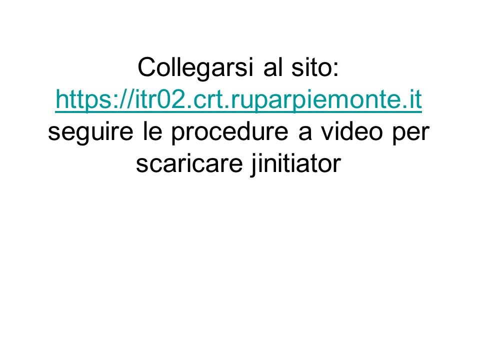Collegarsi al sito: https://itr02. crt. ruparpiemonte