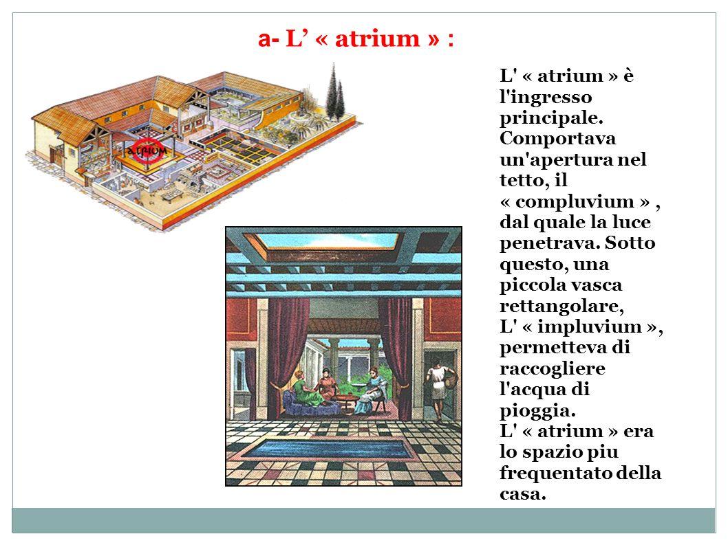 a- L' « atrium » :