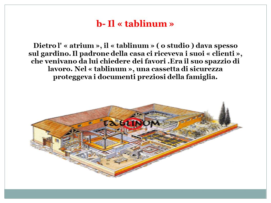 b- Il « tablinum »