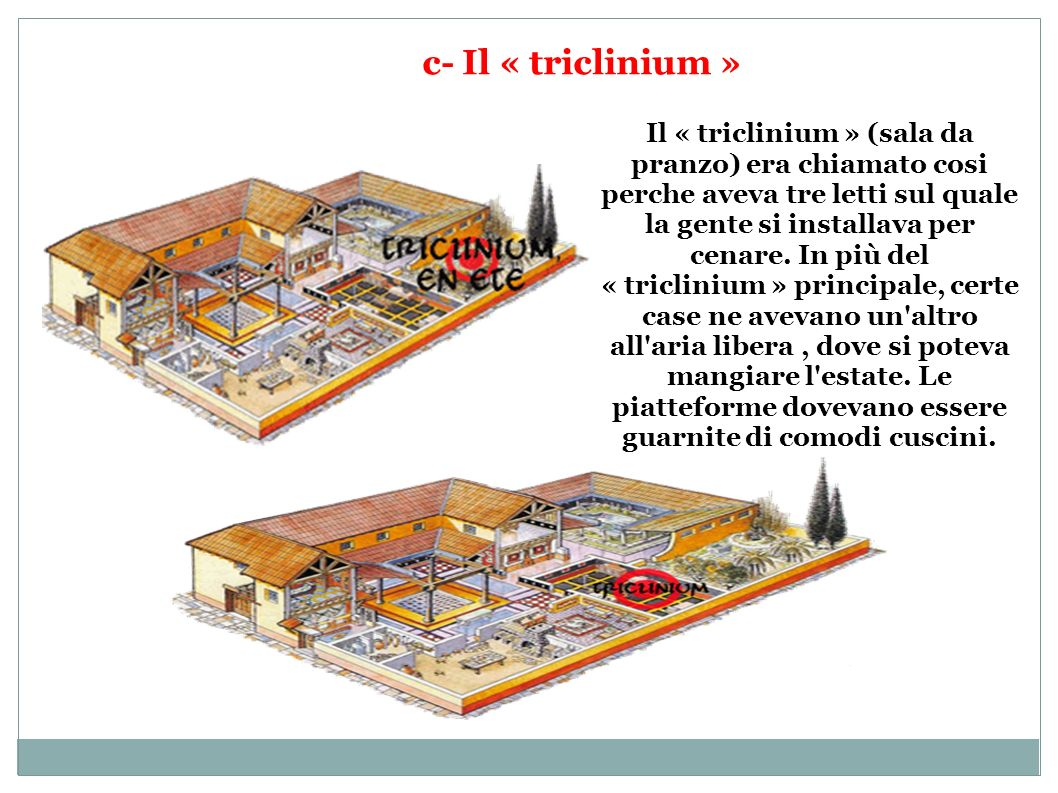 c- Il « triclinium »