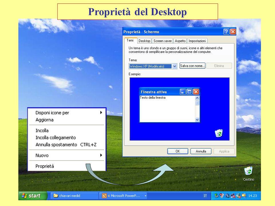 Proprietà del Desktop Presentazione 16