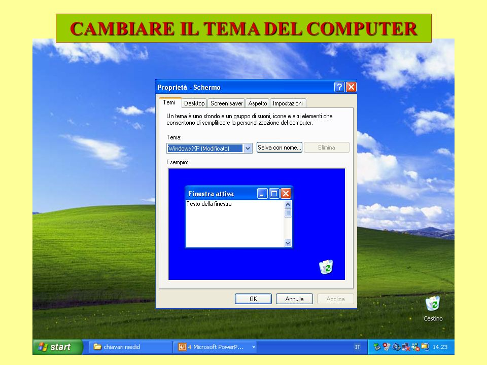 CAMBIARE IL TEMA DEL COMPUTER