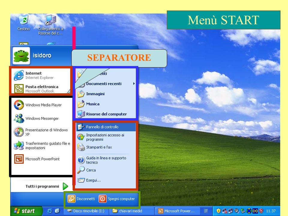 Menù START SEPARATORE Presentazione 24
