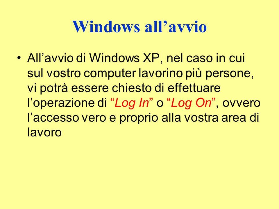 Windows all'avvio