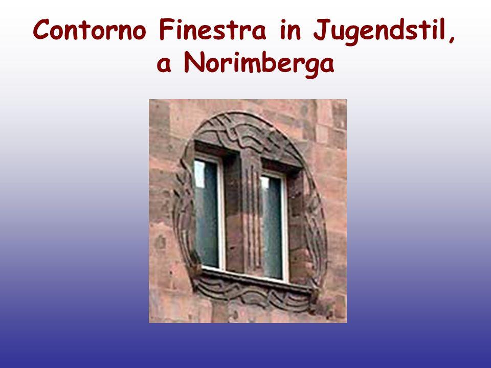 Contorno Finestra in Jugendstil, a Norimberga