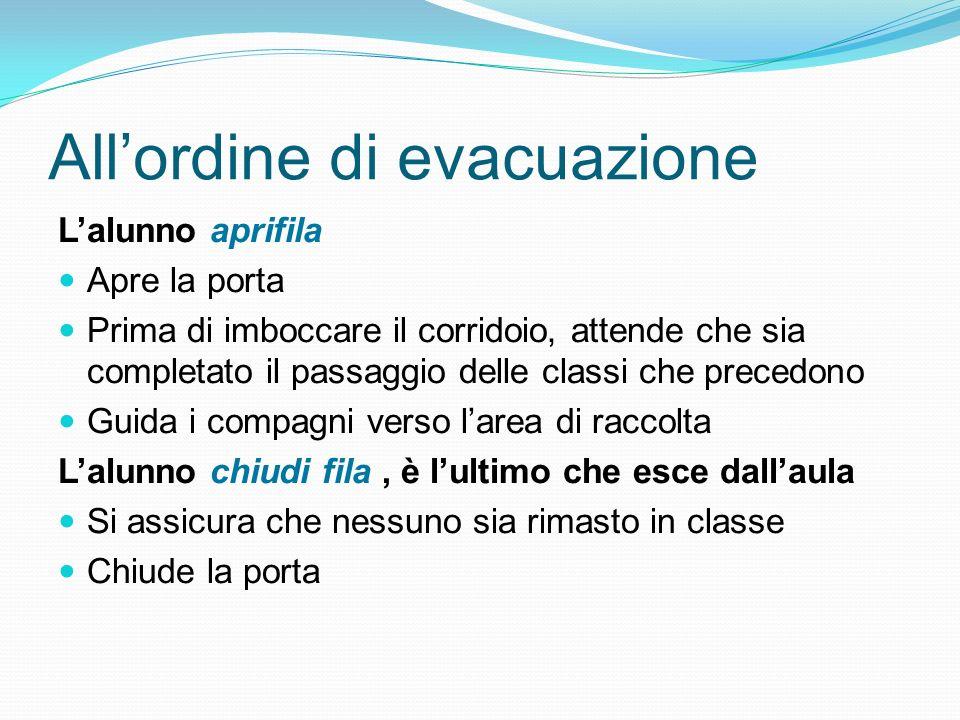 All'ordine di evacuazione