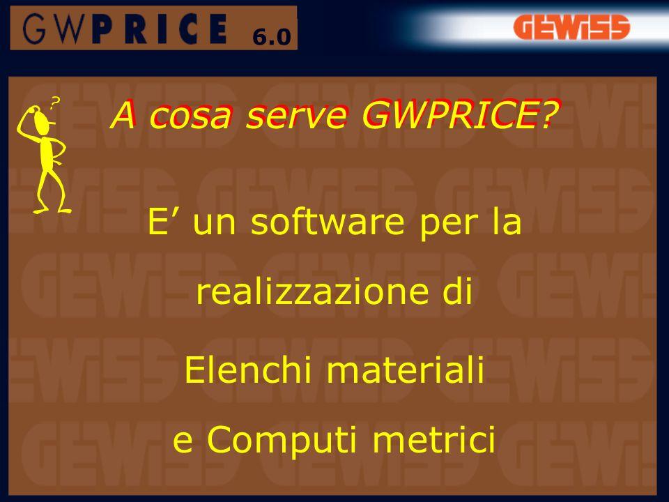 A cosa serve GWPRICE E' un software per la realizzazione di
