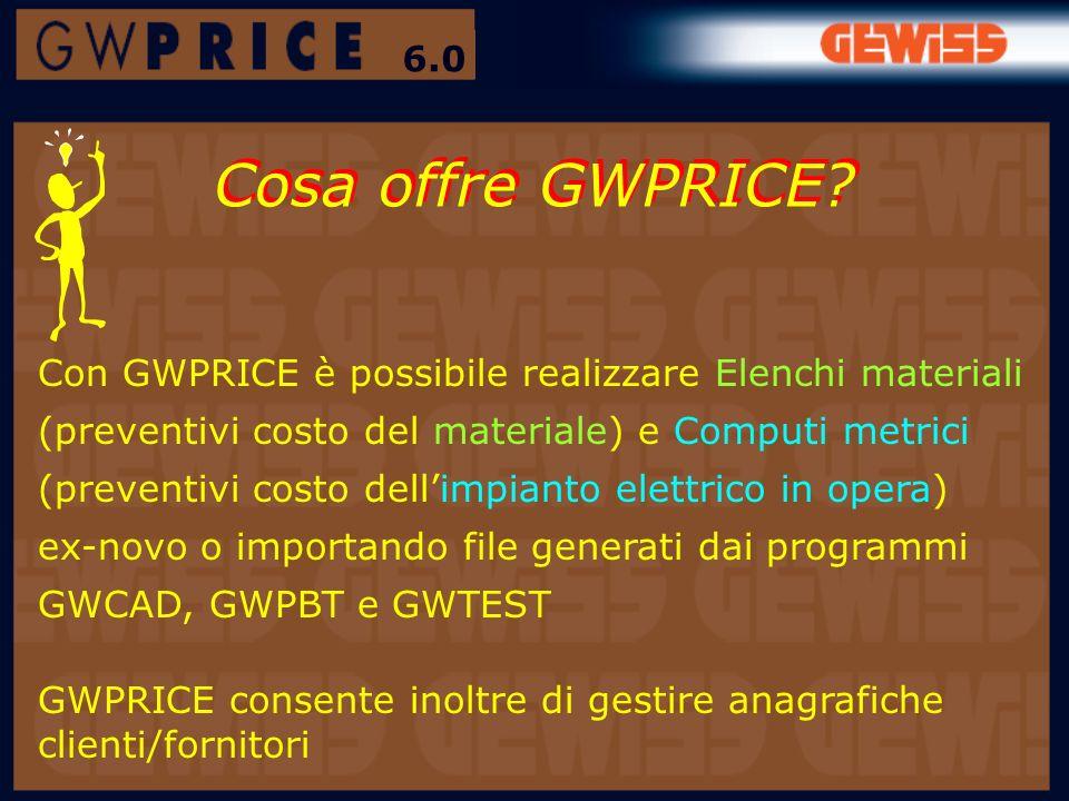 6.0 Cosa offre GWPRICE