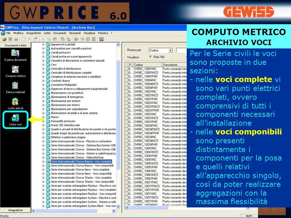 6.0 COMPUTO METRICO ARCHIVIO VOCI