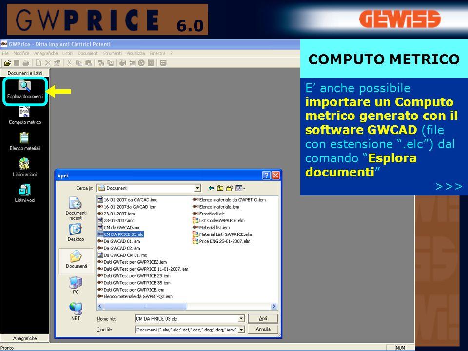 6.0 COMPUTO METRICO.