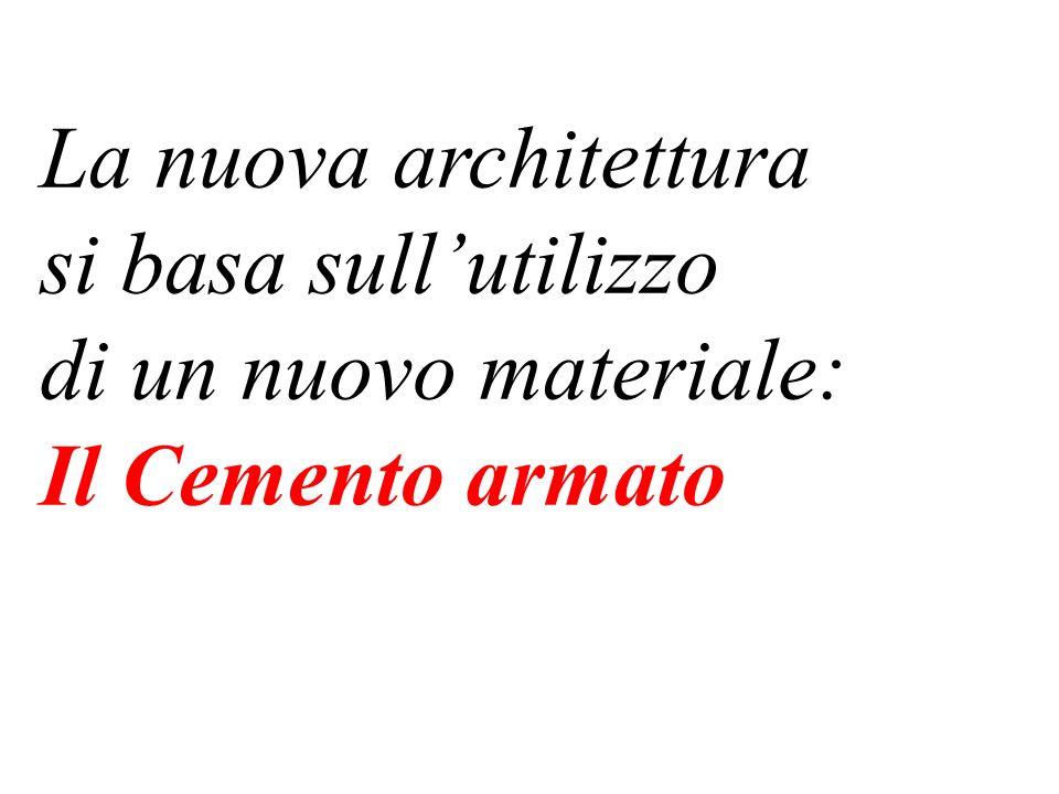 La nuova architettura si basa sull'utilizzo di un nuovo materiale: Il Cemento armato